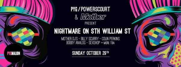 The Mother Halloween party poster for nightmare on south william street