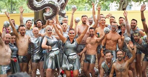 Members of SQI (Sydney Queer Irish) at Mardi Gras 2017