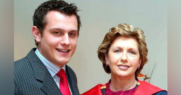 Former President Mary McAleese with her son Justin McAleese