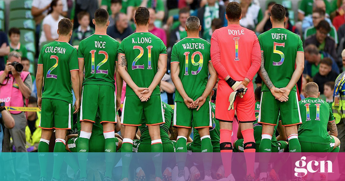 c550467b5 Why It's Important The Irish Soccer Kit Incorporated The Rainbow Flag | GCN  | Gay Ireland News & Entertainment