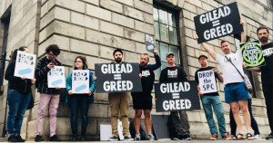 ACT UP Dublin protest Gilead's patent on PrEP