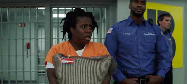 Suzanne 'Crazy Eyes' enters the new maximum prison