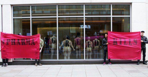 ACT UP London protest PrEP access at Gilead office