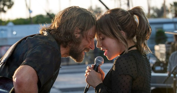 Lady Gaga and Bradley Cooper image from the movie A Star is Born
