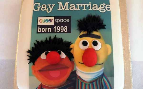 The gay cake that Ashers bakery refused to make featuring Bert and Ernie