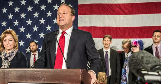 Image of Jared Polis, victorious at the midterms.