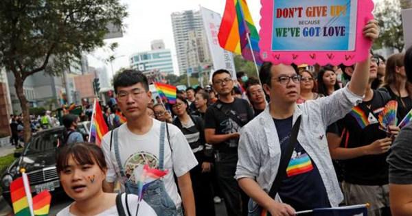 LGBT community march in Taiwan