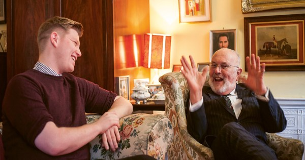 David Norris and Samuel Riggs chatting