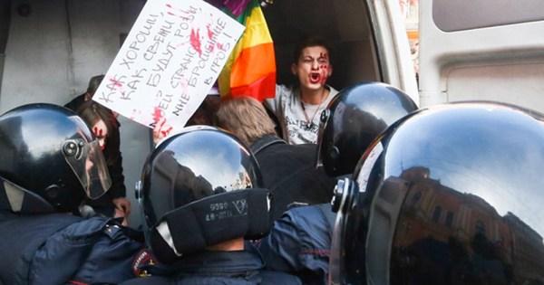 Chechen authorities arrest protestor.