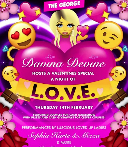 The poster for the George's Valentines Day Event