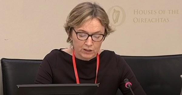 Paula Fagan at the Oireachtas