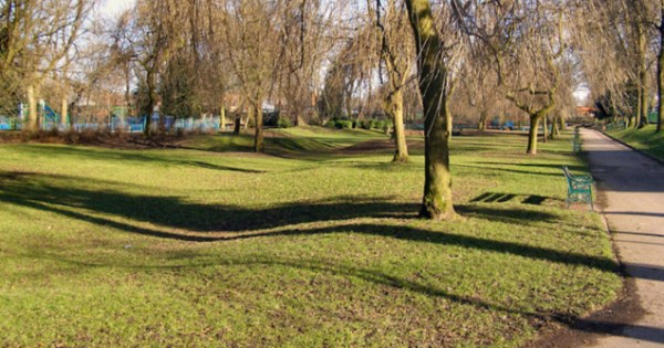 The park where the hate crime occurred.