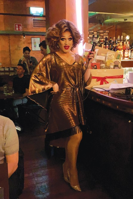 Drag queen Bunny at My Big Fat Gay Pub Quiz