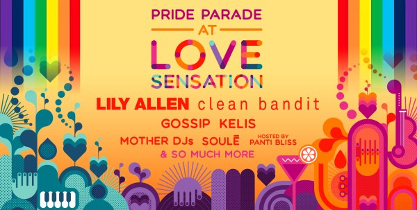 Poster for Love Sensation which will see its very own Rainbow Revolution Pride Parade