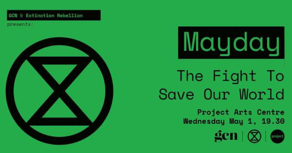 Poster for climate emergency event Mayday