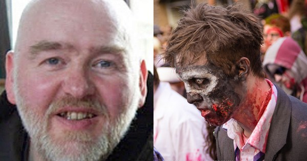 Kilkenny cleric Brother Tom Forde and zombie