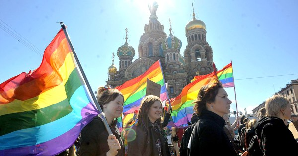 Russian LGBT+ activist charged under homosexual propaganda laws.