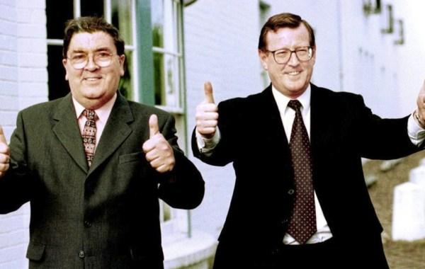 David Trimble and John Hume in 1998.