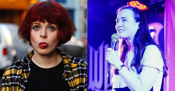 Lolsy Byrne and Justine Strafford, regular acts at Comedy Gold at the Button Factory.