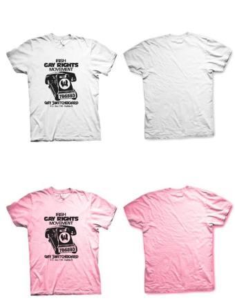 An Irish Gay Rights Movement t-shirt