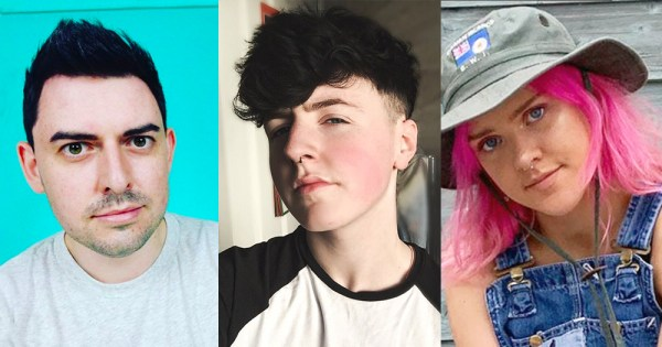 Irish LGBT+ YouTubers James Mitchell, Jackson Miloh and Keelin Moncrieff