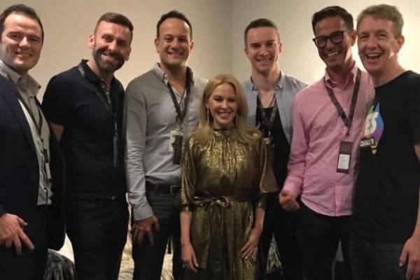 Kylie Minogue and Leo Varadkar last year.