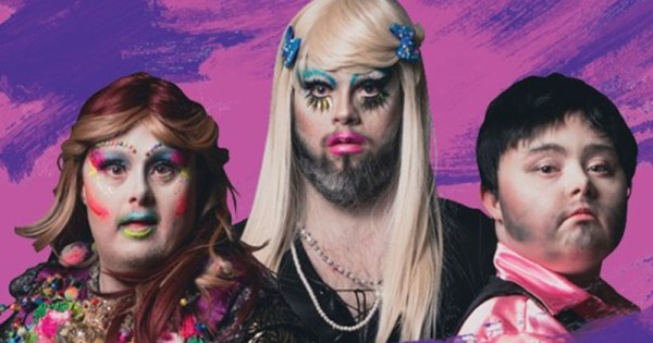 Three members of Drag Syndrome for promotional material