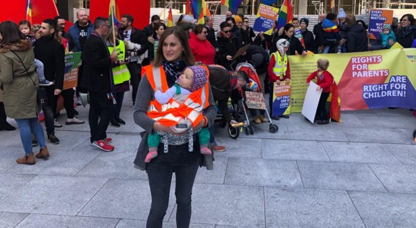 Ranae at 'Equality for Children' demo