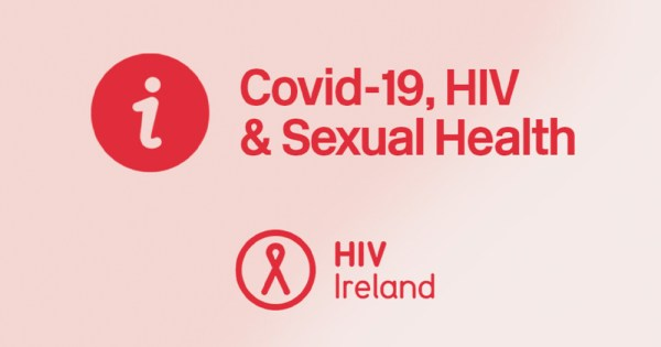 A HIV Ireland poster about Coronavirus pandemic and sexual health