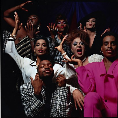 A group of black LGBT+ folk all posing and vogueing
