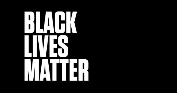 The words Black Lives Matter against a dark background