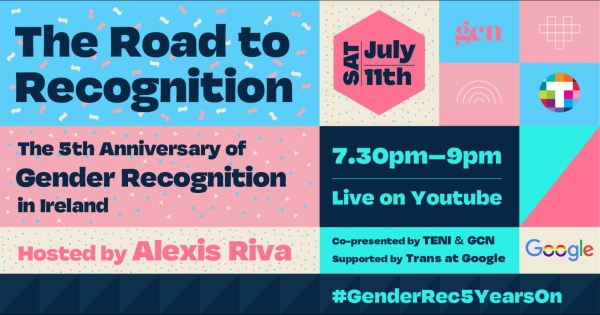 Poster for Gender Rec Event, the Road to Recognition