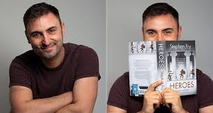Matthew Cornford holding a book