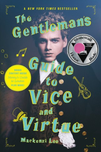 "Cover for ""A Gentlemen's Guide to Vice and Virtue"", a well dressed gentleman looks on"