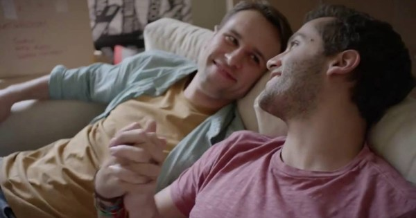gay couple holding hands, cutest queer commercials