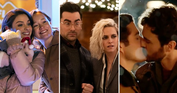 LGBTQ+ Christmas movies, Happiest Season, Christmas Set-up, Let it Snow