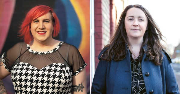 Talking Sense: Left image of TENI CEO Eirenne Carroll and right is a picture of Una Mullally
