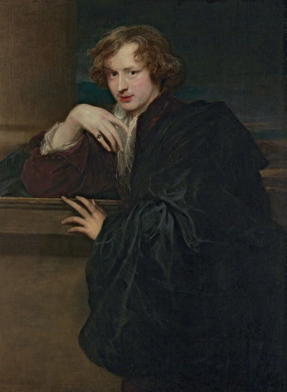 portrait of a man dressed in black with a pose that includes a limp wrist