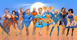 A group of drag queens in the desert