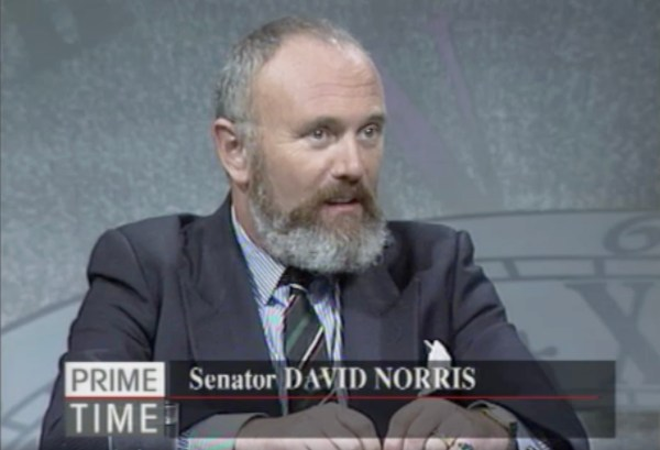 From RTÉ queer Archives: A man sits on a TV debate panel