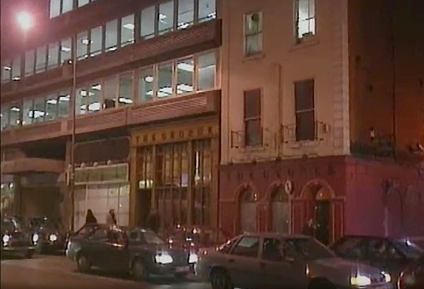 From RTÉ queer Archives: A night time image of Georges Street in Dublin from 1998