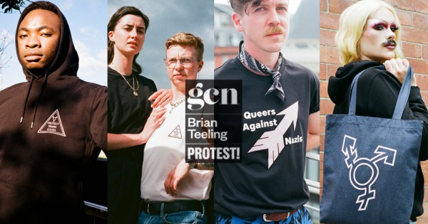 Protest Collection: Split screen of new GCN & Brian Teeling Apparel