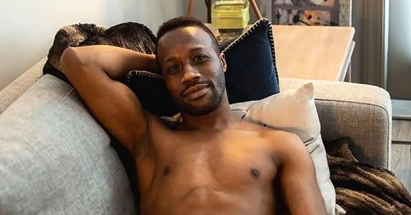 Portrait of a gay black man in Atlanta in Elska