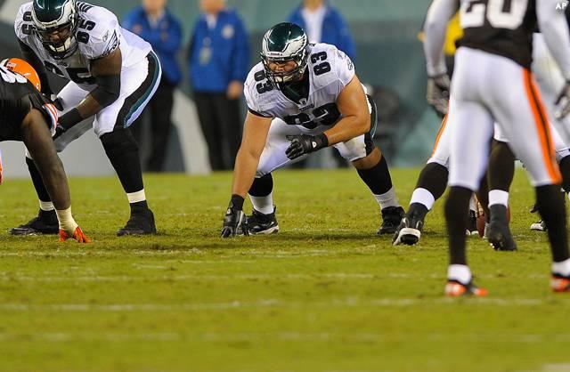 Kyle DeVan's Poor Play Forced The Eagles To Start Danny Watkins