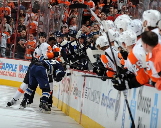 "Flyers Dismantle Blue Jackets in ""Embarassing"" 9-2 Stinger"
