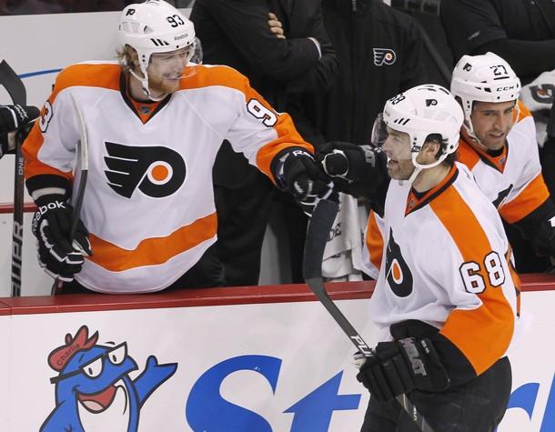 Jagr, Talbot Silence Pittsburgh as Flyers Stifle Penguins 4-2
