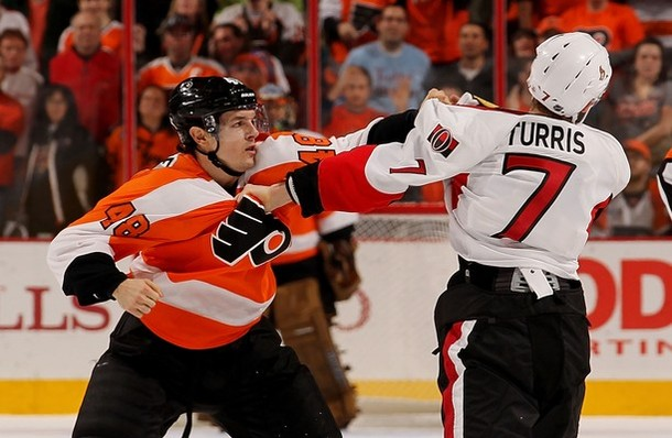 Briere, Bryzgalov Carry Flyers to 3-2 Overtime Thriller Against Senators