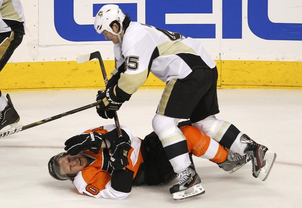 NHL, Flyers Reactions to Dirty Hits a Mixed Bag