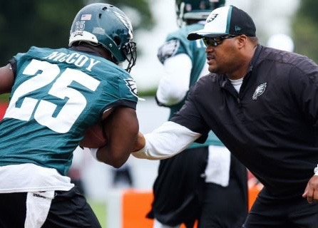 """Eagles RB Coach Duce Staley: """"Chip Is Not A Racist At All"""""""