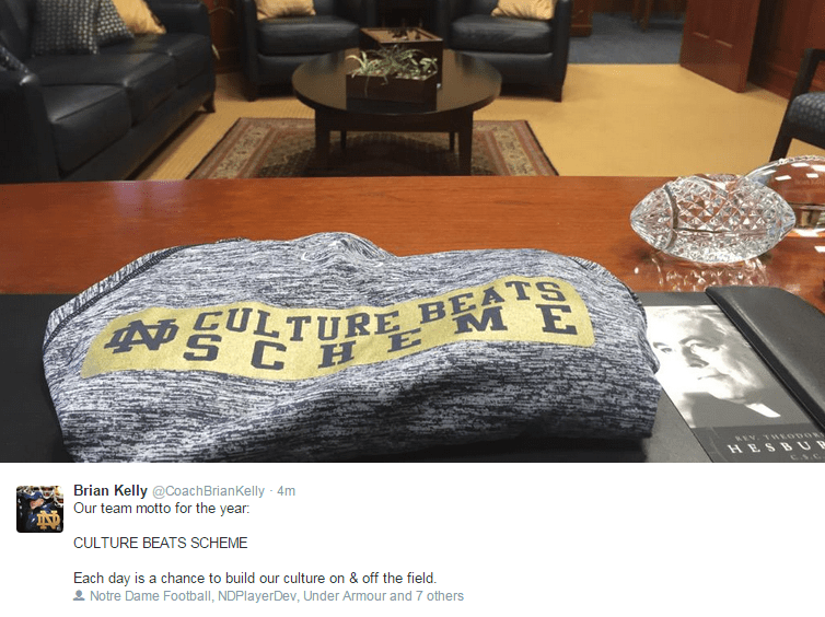 Brian Kelly Copies The Chip Kelly Slogan